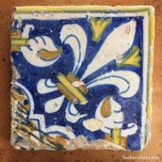 Antigüedades: AZULEJO RENACENTISTA VALENCIANO DEL SIGLO XVII. Lote 85144712