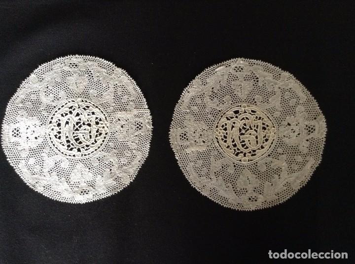 Antigüedades: ENCAJE Y BORDADOS 2 PAÑITOS - Foto 5 - 85150832