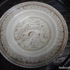 Antigüedades: BELLO PLATO PORCELANA SEGOVIA. Lote 85157916