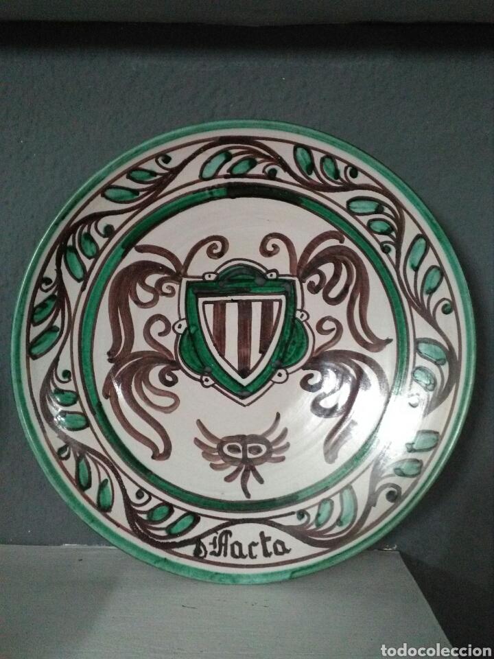 PLATO DE TERUEL. TALLER DE DOMINGO PUNTER. 31 CM. (Antigüedades - Porcelanas y Cerámicas - Teruel)
