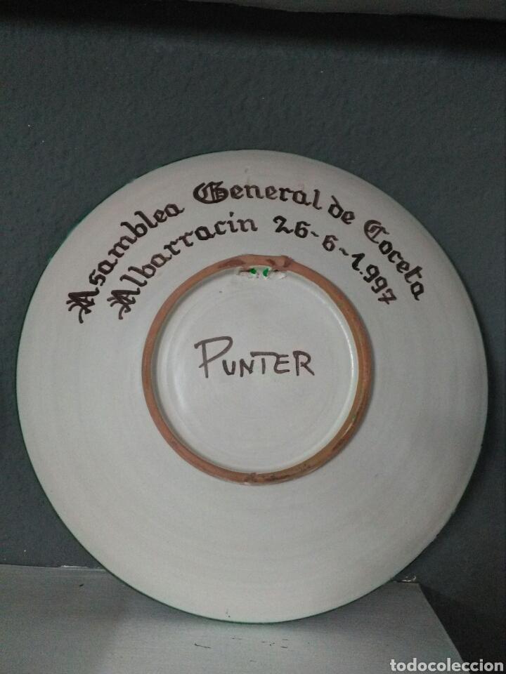Antigüedades: PLATO DE TERUEL. TALLER DE DOMINGO PUNTER. 31 CM. - Foto 2 - 173153158