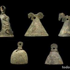 Antigüedades: GRUPO 5 CAMPANILLAS ROMANAS. Lote 85189920
