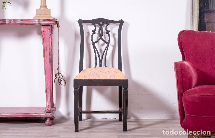 Antigüedades: Sillas Antiguas Restauradas Noir - Foto 3 - 85204792