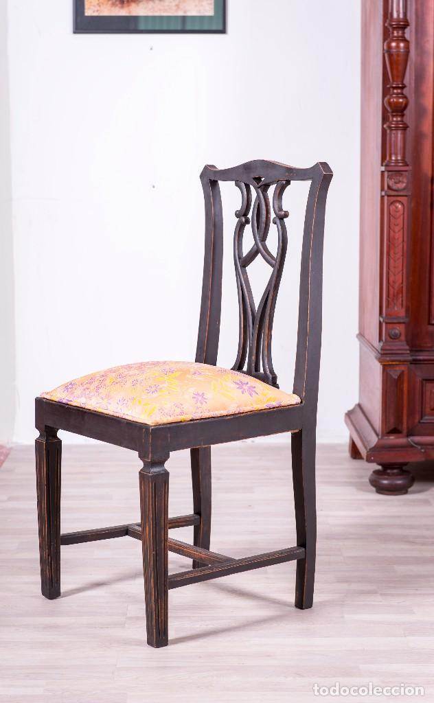 Antigüedades: Sillas Antiguas Restauradas Noir - Foto 4 - 85204792