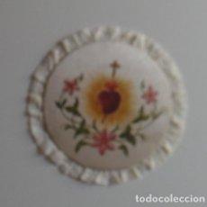 Antigüedades: TAPETE RELIGIOSO EN SEDA. PINTADO.. Lote 85218016
