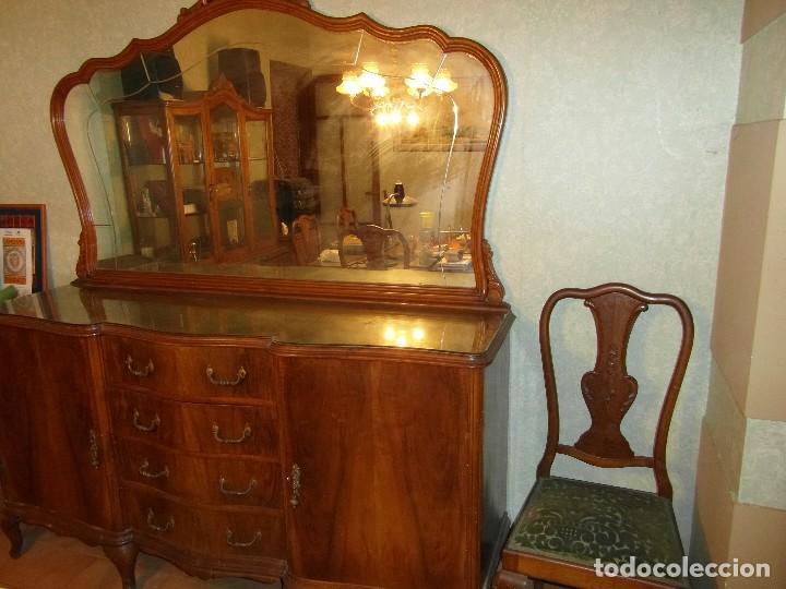 Mueble aparador buffet antiguo con gran espejo comprar - Mueble aparador antiguo ...