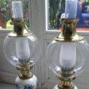 Antigüedades: LAMPARA QUINQUÉS A ESTRENAR Y ETIQUETADOS. CLASICOS DE METAL Y CERAMICA AÑOS 80. LOMA-VALENCIA.. Lote 85241920
