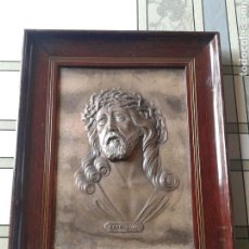 Antigüedades: ECCE HOMO CRISTO ESTAÑO RELIEVE. Lote 85248334
