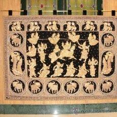 Antigüedades: IMPRESIONANTE TAPIZ BIRMANO. Lote 38365628