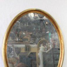 Antigüedades: ESPEJO EN MADERA CON PAN DE ORO. Lote 85269312