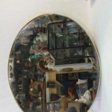 Antigüedades - espejo ovalado con marco de metal - 85269320