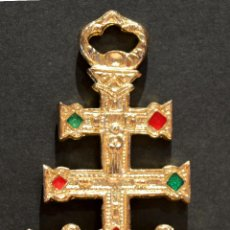 Antigüedades: CRUZ DE CARAVACA METALICA GRANDE 8,5CM X 5CM. Lote 85273144