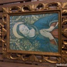 Antigüedades: CUADRO VIRGEN EN MADERA. Lote 85278464