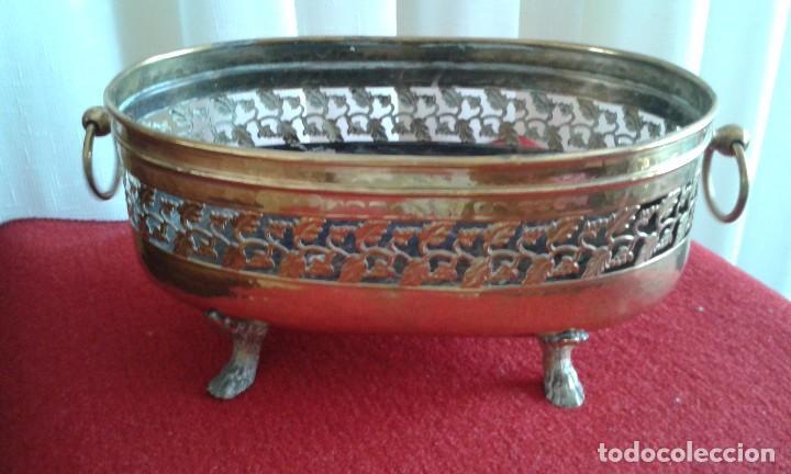 Antigüedades: Jardinera de latón - Foto 2 - 85310480