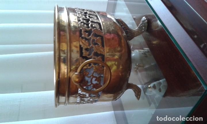 Antigüedades: Jardinera de latón - Foto 4 - 85310480