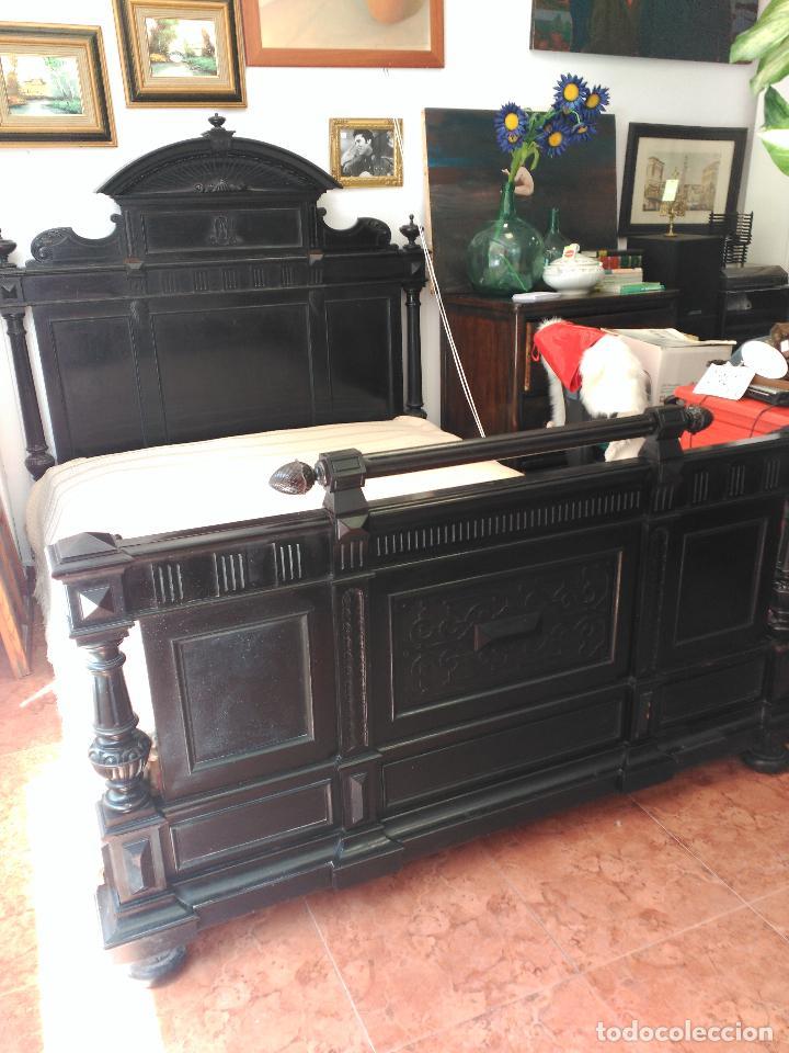 Antigüedades: Dormitorio antiguo en color negro COMPLETO - Foto 7 - 68145389