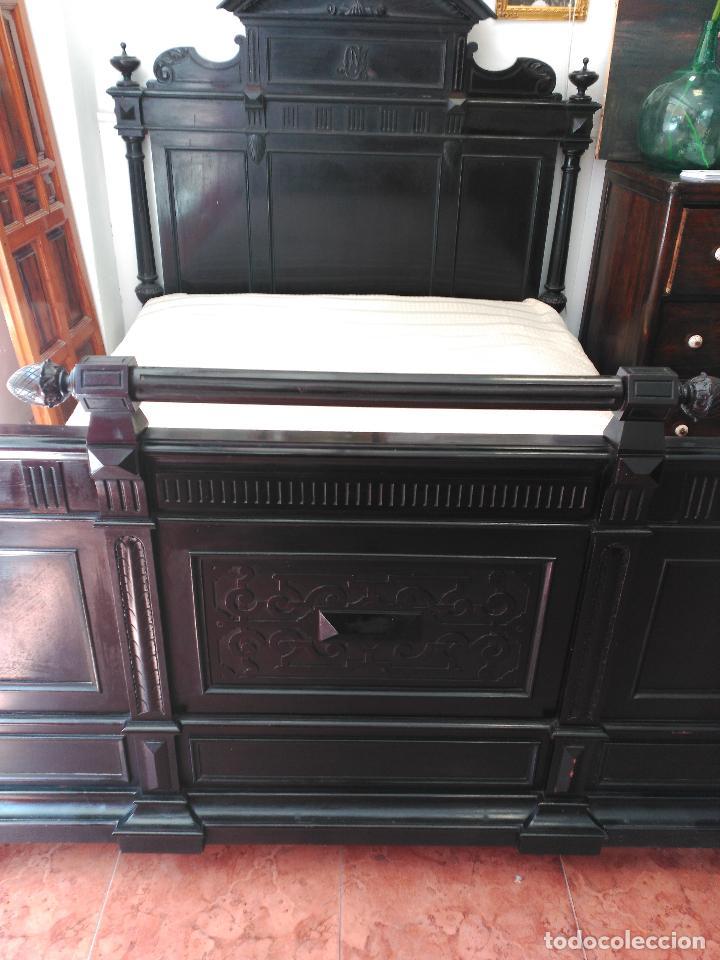 Antigüedades: Dormitorio antiguo en color negro COMPLETO - Foto 8 - 68145389