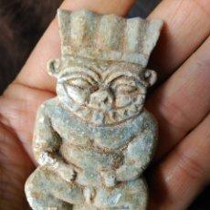 Antigüedades: EGIPTO ESTATUA VIDRIADA FAYENZA EXCELENTE DEL DIOS BES 500-300 AC. Lote 85323484