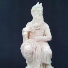 Antigüedades: ESCULTURA EN ALABASTRO. REPRODUCCIÓN DEL MOISES DE MIGUEL ANGEL. MITAD DEL S. XX.. Lote 85339552