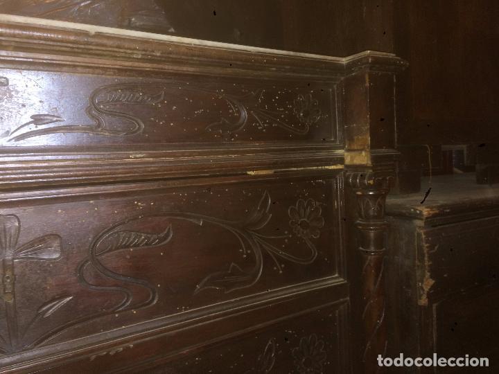 Antigüedades: Antigua cómoda modernista de los años 20-30 de madera y marmol blanco encima - Foto 4 - 85350216