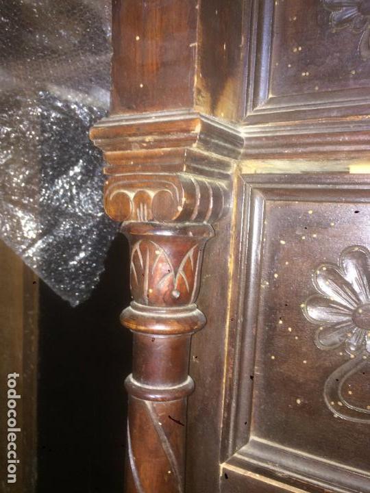 Antigüedades: Antigua cómoda modernista de los años 20-30 de madera y marmol blanco encima - Foto 12 - 85350216