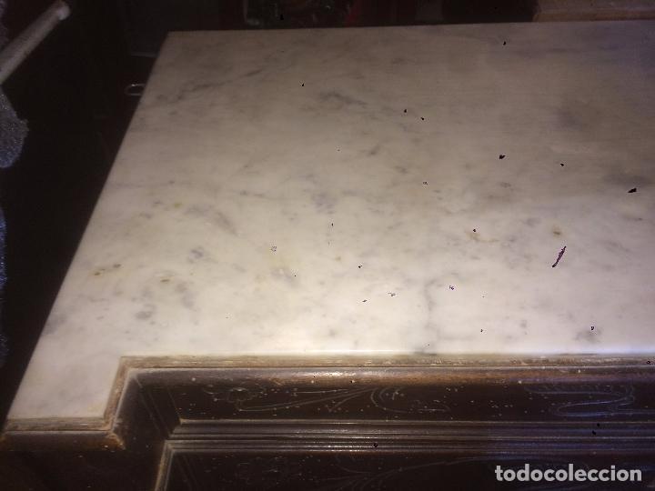 Antigüedades: Antigua cómoda modernista de los años 20-30 de madera y marmol blanco encima - Foto 22 - 85350216