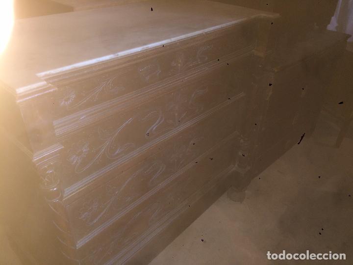 Antigüedades: Antigua cómoda modernista de los años 20-30 de madera y marmol blanco encima - Foto 31 - 85350216