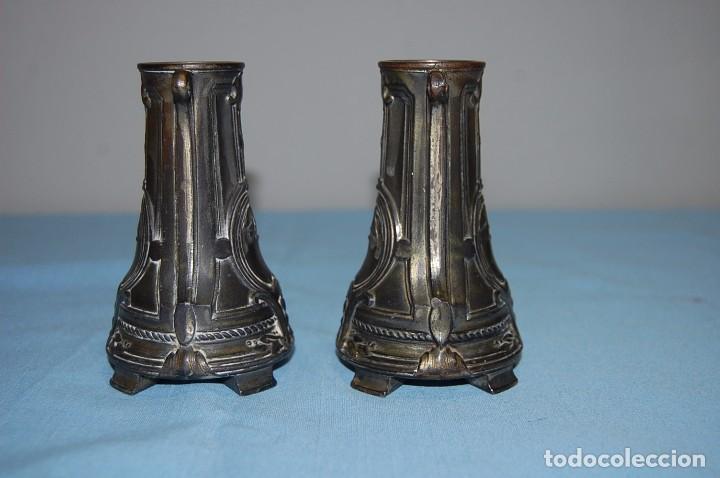 Antigüedades: PAREJA DE FLOREROS MODERNISTAS DE 1930 - Foto 2 - 85356488