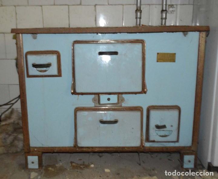 Antigua cocina de hierro fundido revestido de p comprar for Cocina hierro fundido