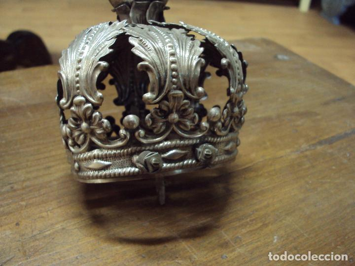 Antigüedades: Corona de plata para virgen - Foto 3 - 85377856
