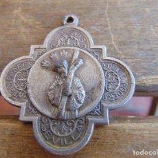 Antigüedades: MEDALLA SIN CORDON CRISTO DE EL GRAN PODER SEMANA SANTA DE SEVILLA. Lote 85379804