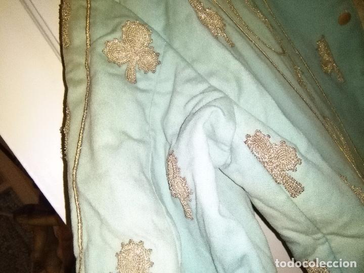Antigüedades: GRAN VESTIDO MUSEO S XIX CELESTE PAÑETE BORDADO PLATA CONFECcion VIRGEN TEATRO CIRCO semana santa - Foto 28 - 85441768