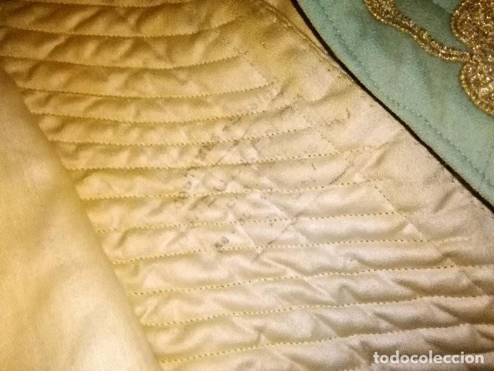 Antigüedades: GRAN VESTIDO MUSEO S XIX CELESTE PAÑETE BORDADO PLATA CONFECcion VIRGEN TEATRO CIRCO semana santa - Foto 56 - 85441768