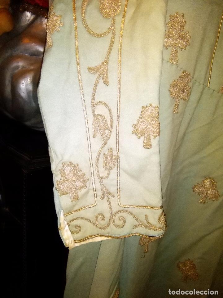 Antigüedades: GRAN VESTIDO MUSEO S XIX CELESTE PAÑETE BORDADO PLATA CONFECcion VIRGEN TEATRO CIRCO semana santa - Foto 76 - 85441768
