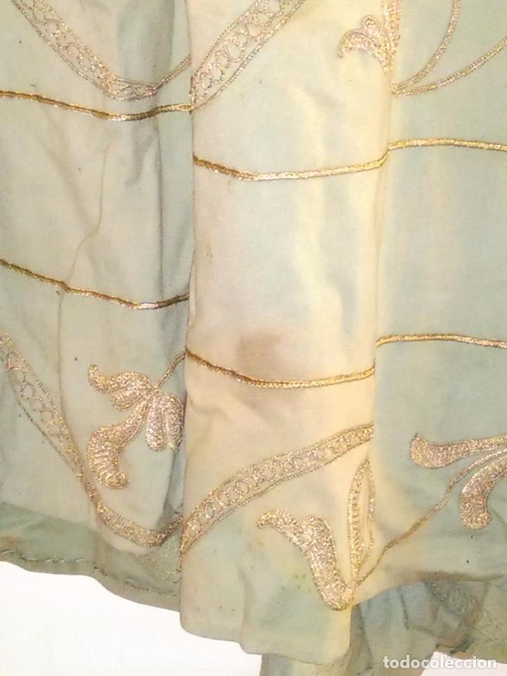 Antigüedades: GRAN VESTIDO MUSEO S XIX CELESTE PAÑETE BORDADO PLATA CONFECcion VIRGEN TEATRO CIRCO semana santa - Foto 79 - 85441768