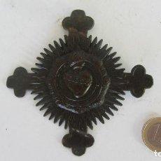 Antigüedades: SAGRADO CORAZON DE LATON. Lote 85454748