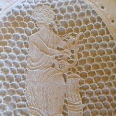 Antigüedades: ANTIGUO ALMOHADÓN BORDADO Y GANCHILLO. Lote 85457024