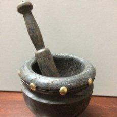 Antigüedades: MORTERO DE MADERA. Lote 85465376