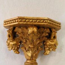 Antigüedades: MENSULA EN RESINA DORADA. Lote 116301640
