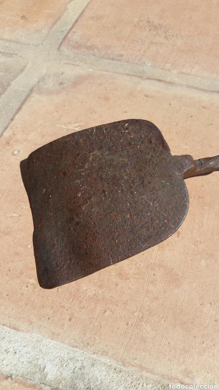 Antigüedades: GRAN PALA HIERRO FORJADO . MUY ANTIGUA 68 CMS - Foto 3 - 85494435