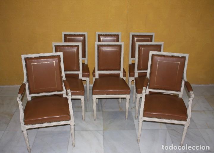 Conjunto sillas y sillones luis xvi estilo a o comprar - Sillas y sillones clasicos ...