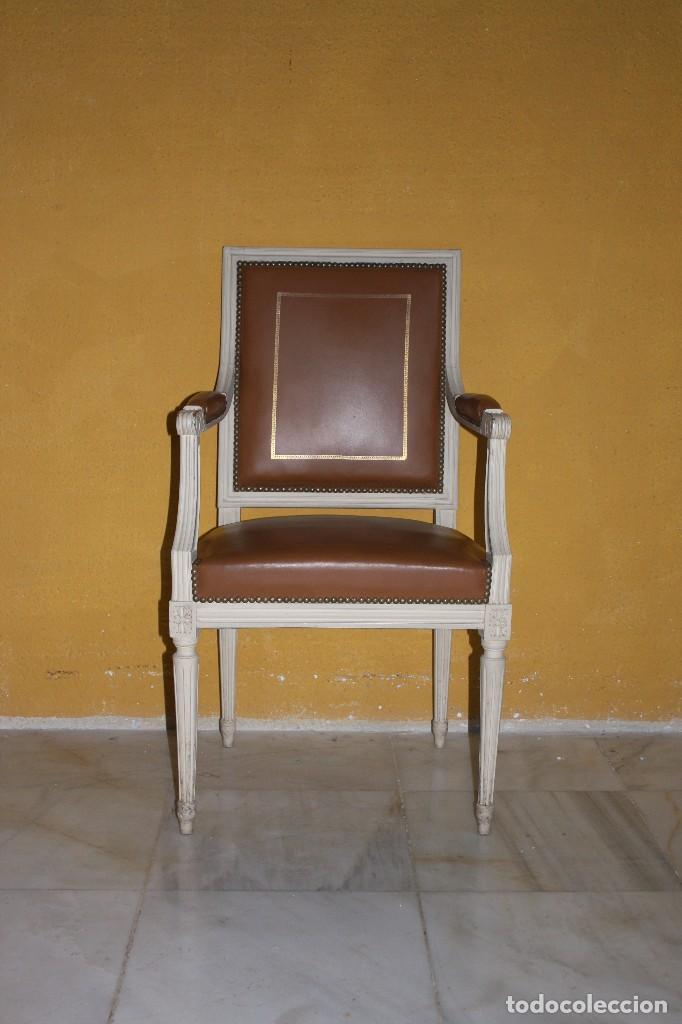 Conjunto sillas y sillones luis xvi estilo a o comprar sillas antiguas en todocoleccion - Sillas estilo luis xvi ...