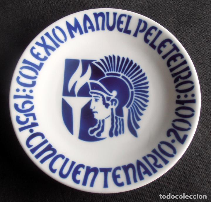 PLATO SARGADELOS, COLEXIO MANUEL PELETEIRO, 1951 CINCUENTENARIO 2001 (Antigüedades - Porcelanas y Cerámicas - Sargadelos)