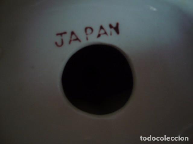 Antigüedades: FIGURA MUJER PORCELANA JAPÓN PINTADA A MANO COLOR ORO - Foto 4 - 85592376