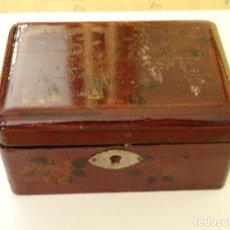 Antigüedades: ANTIGUA CAJA TE ROYAL, MADERA LACADA, MUY RARA. Lote 85617984