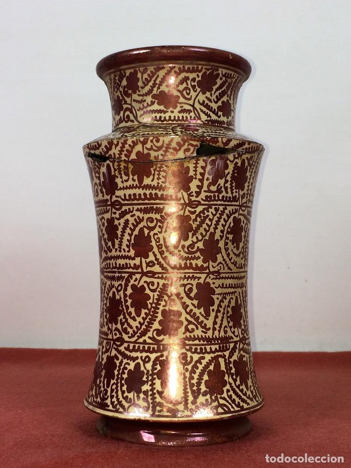 ALBARELO. CERÁMICA DE REFLEJOS METÁLICOS. MANISES. ESPAÑA. XIX-XX (Antigüedades - Porcelanas y Cerámicas - Manises)