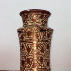 Antigüedades: ALBARELO. CERÁMICA DE REFLEJOS METÁLICOS. MANISES. ESPAÑA. XIX-XX. Lote 85621092