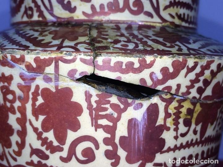 Antigüedades: ALBARELO. CERÁMICA DE REFLEJOS METÁLICOS. MANISES. ESPAÑA. XIX-XX - Foto 8 - 85621092