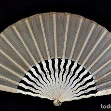 Antigüedades: ABANICO DE NOVIA EN MARFIL AÑOS 1900. Lote 85623276