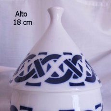 Antigüedades: TARRO ANTIGUO SARGADELOS BLANCO Y AZUL. Lote 85632492
